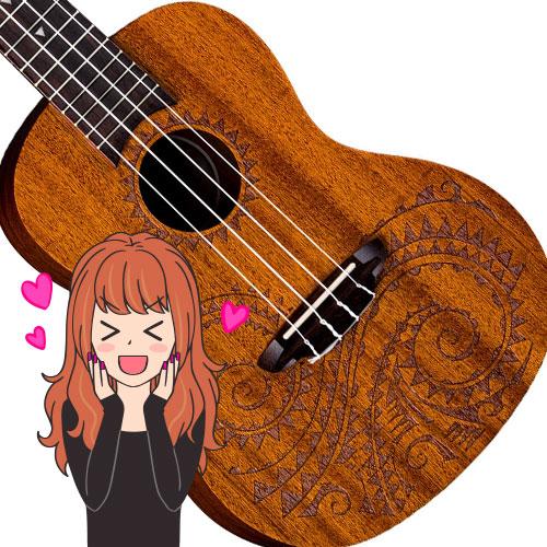 luna tattoo concert ukulele review