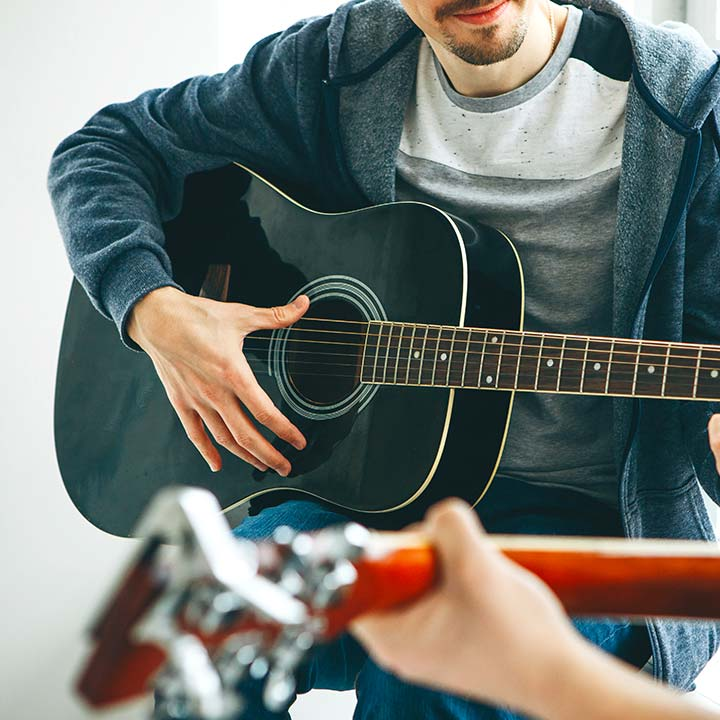 strumming with thumb
